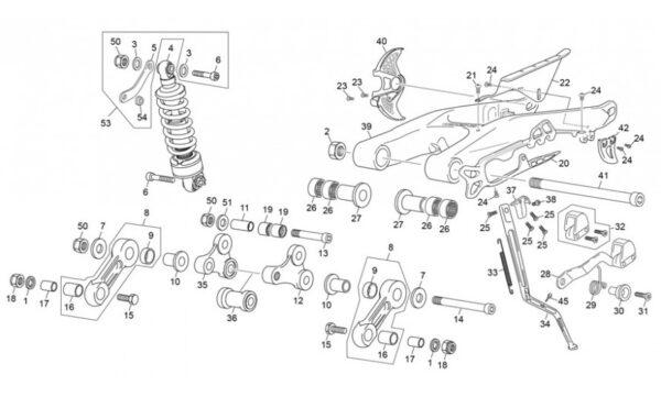 Amortiguador-basculante Enduro 2T